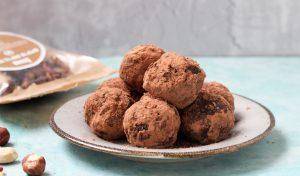 כדורי שוקולד חמאת בוטנים רואו ב 4 רכיבים