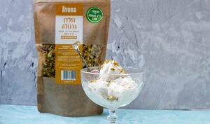 גלידת צ׳אנקי מאנקי טבעונית