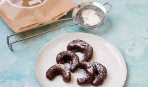 סהרוני שוקולד ללא גלוטן ב 3 רכיבים